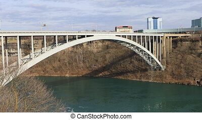 The Rainbow Bridge bordering Canada and the United States