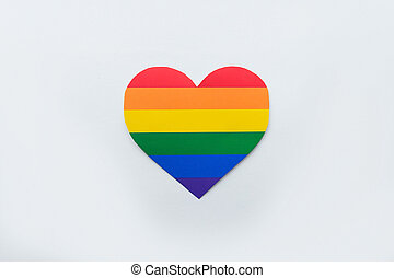 rainbow heart lgbt on a white background