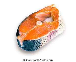 the rainbow salmon, steak