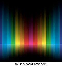 rainbow stripe dark background