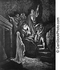 The Raising of Lazarus - 1) Le Sainte Bible: Traduction...