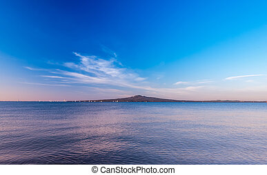 The Rangitoto volcanic island located at Auckland, New Zealand