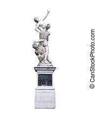 The Rape of The Sabine Women by Giambologna in Florence -...