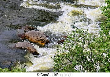 The rapids on a river in Ukraine
