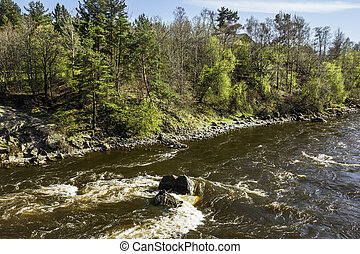 The Rapids on the river Vuoksa near Losevo station