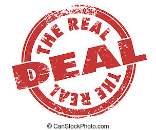 The Real Deal Red Grunge Stamp Authentic Original Approved...
