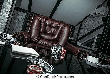 Interior of the poker