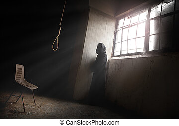 The Reaper Waiting and a Hangman Noose - The reaper Waiting...