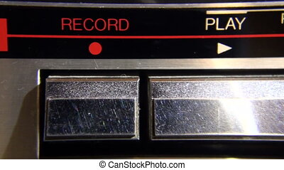The recorder's buttons