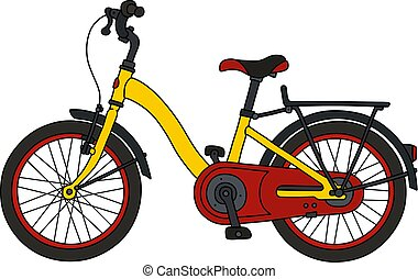 The red and yellow bicycle