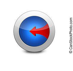 Blue icon arrow left
