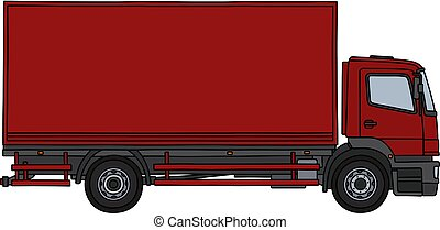The red cargo truck