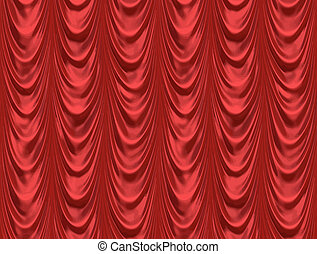 the red curtain - luxurious red velvet curtains such as on a...