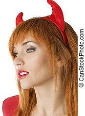 the red devil close up