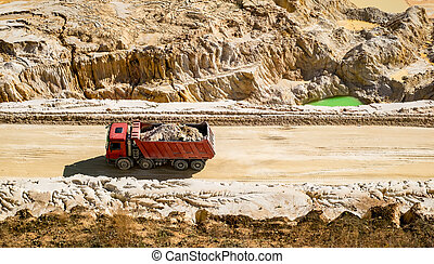 the red dump truck