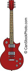 The red electric guitar