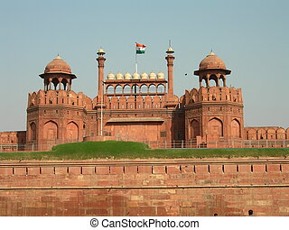 Red Fort - The Red Fort in Old Delhi