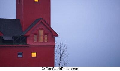 The Red Lighthouse Lake Macatawa Holland Michigan Great...
