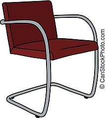The red metal chair