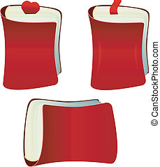 The red notebook with bookmark