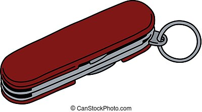 The red pocket knife