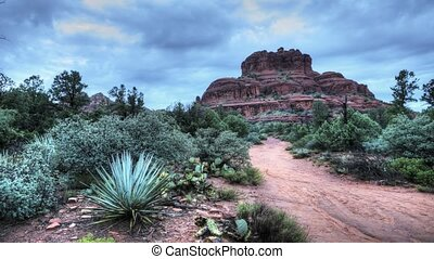 The Red Rock Formations Of Sedona, Arizona. The Bell Rock...