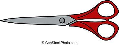 The red scissors