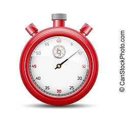The red stopwatch
