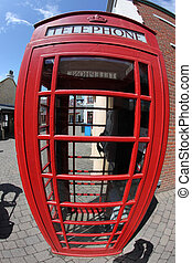 the Red telephone box, London, UK
