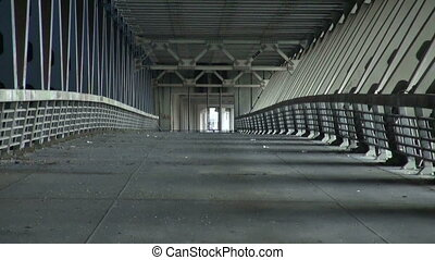 The reinforced concrete bridge