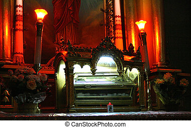 The relics of Saint Valentine