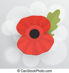 The remembrance poppy - poppy appeal. Decorative vector...