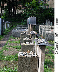The Remuh Cemetery in Krakow, Poland, is a Jewish cemetery...