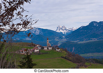 The Renon Plateau in South Tyrol, Italy.