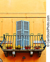 Balcony - The Renovated Facade of the Old Italian House with...