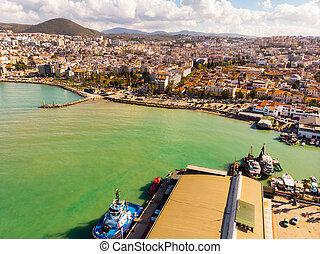 The resort town of Kusadasi, Turkey