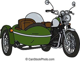 The retro green sidecar