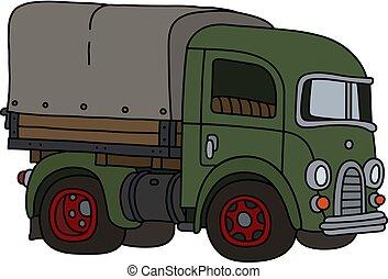 The retro green truck