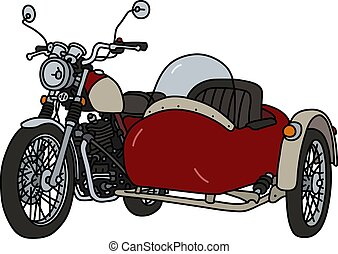 The retro red sidecar