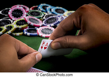 The revealing blackjack in hand