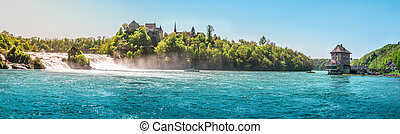 The Rhine Fall on a sunny day
