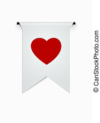 the ribbon with heart icon