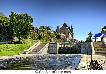 The rideau canal in Ottawa - The rideau canal in Ottawa....
