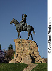 The Rider, a monument in Windhoek in remembrance of the wars in the early 20th century.