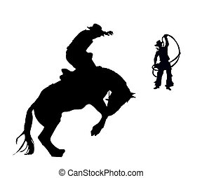 The Rider. - The Rider and cowpuncher try to stop the horse.