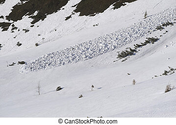 In the spring, wet snow avalanches come down from the slopes of the Alps, which can cover a person and immediately solidify, depriving him of mobility.