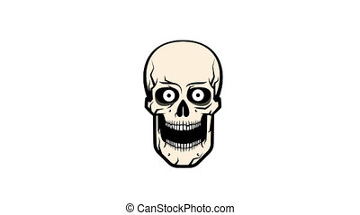 The ridiculous cartoon skull - Ridiculous cartoon skull...