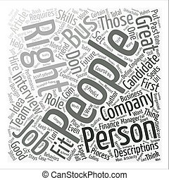 The Right People On The Bus Stays The Company s Course text background word cloud concept