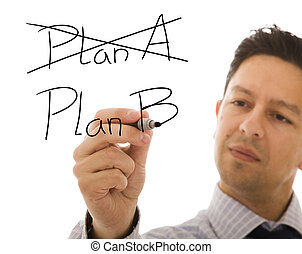 The right solution for a big problem - Businessman making...