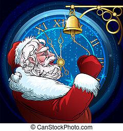 The ringing Santa Claus